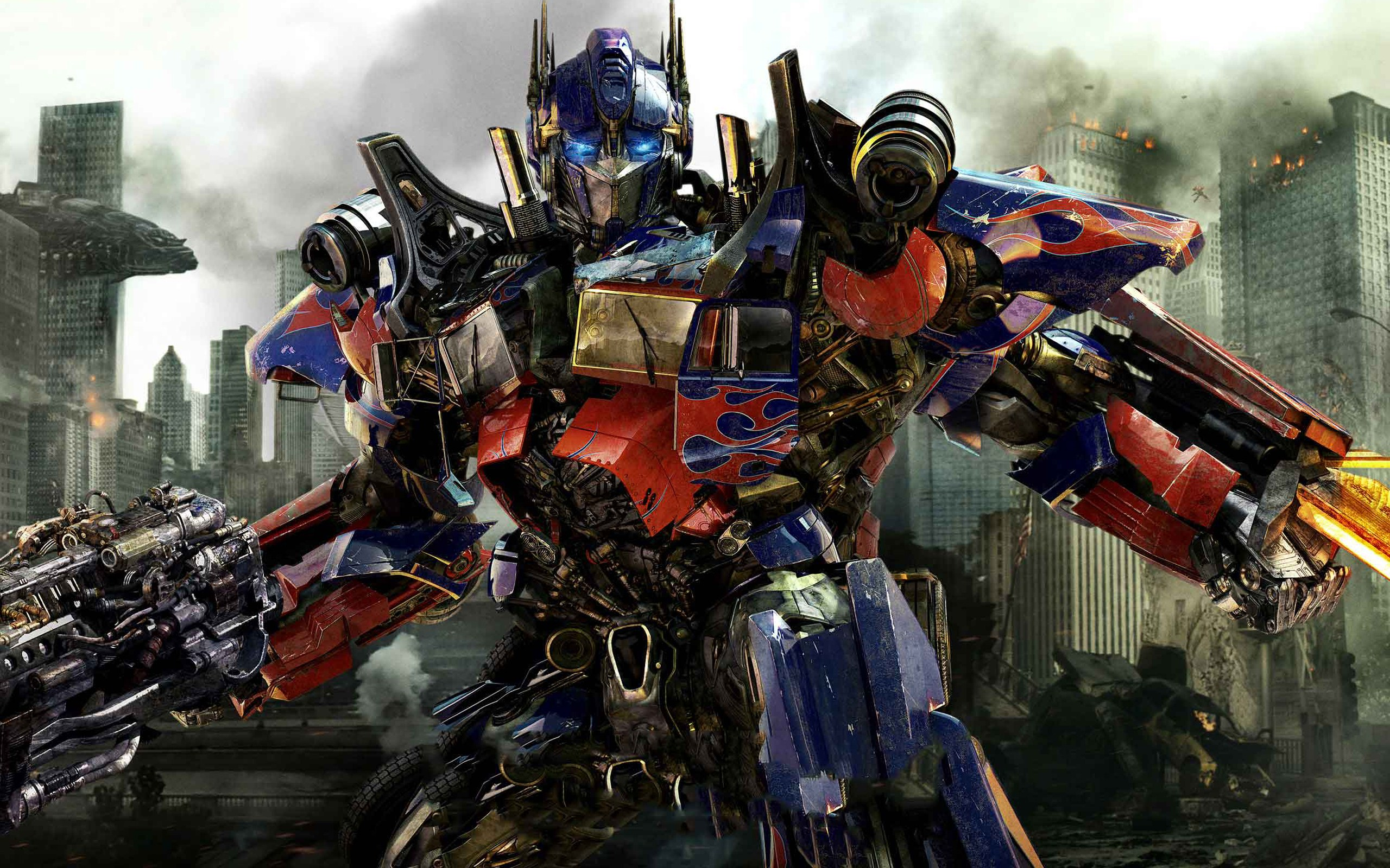 Optimus prime in new transformers 3-wide